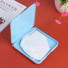 Schowek pudełko typu Organizer maska etui domowe odporne na wilgoć pudełko na maskę wyjdź pyłoszczelna maska do przechowywania pojemnik Organizer tanie tanio CN (pochodzenie) Face Zaopatrzony Ekologiczne
