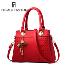 Fashion Women Handbags Tassel PU Leather Totes Bag Top-handle Embroidery Crossbo