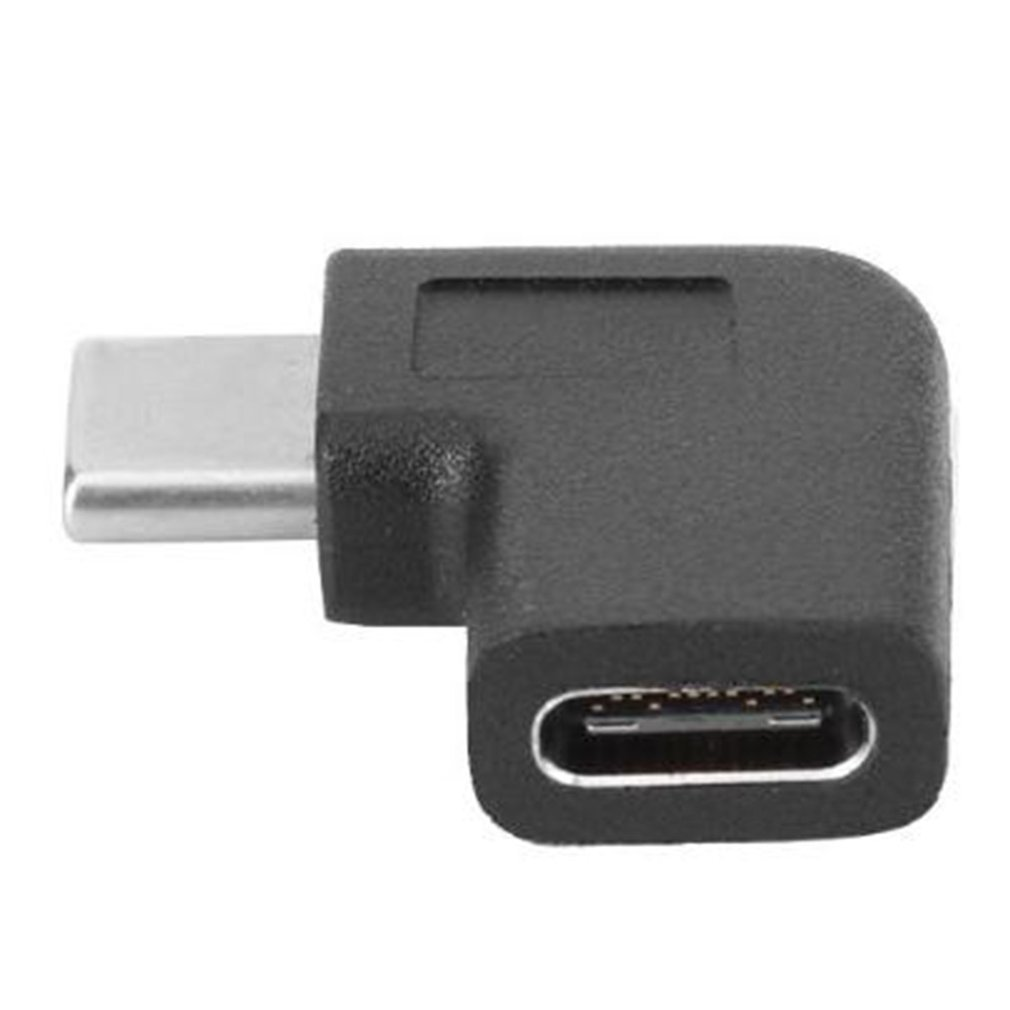 Usb-c Usb 3.1 Type C Male To Female Adapter Connector Black Designed Exquisitely And Easy To Use 90 Degrees Right Angle