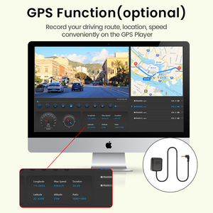 Image 3 - Dropshipping  2K+GPS Car DVR 12 Inch Touch IPS Mirror Dual Lens Dashcam Car Cam G sensor Video Recorder With Rear View