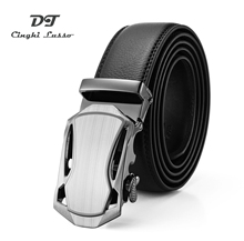 CINGHI LUSSO Mens Business Belt Korean Version of Genuine Automatic Buckle Leather Pure Layer