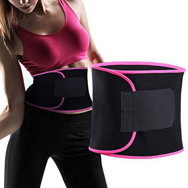 Belly Slimming Trimmer Waist Trainer Outdoor Workout Running Wide Waistband Sweat Waist Belt Body Shaper Corset Waist Shaper 3
