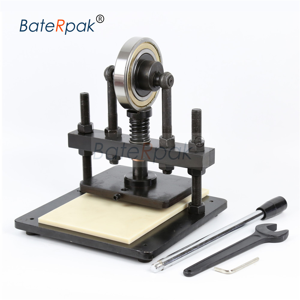 20x14cm BateRpak Hand druck probenahme maschine, foto papier, PVC/EVA blatt mold cutter, manuelle leder form/stanzen maschine