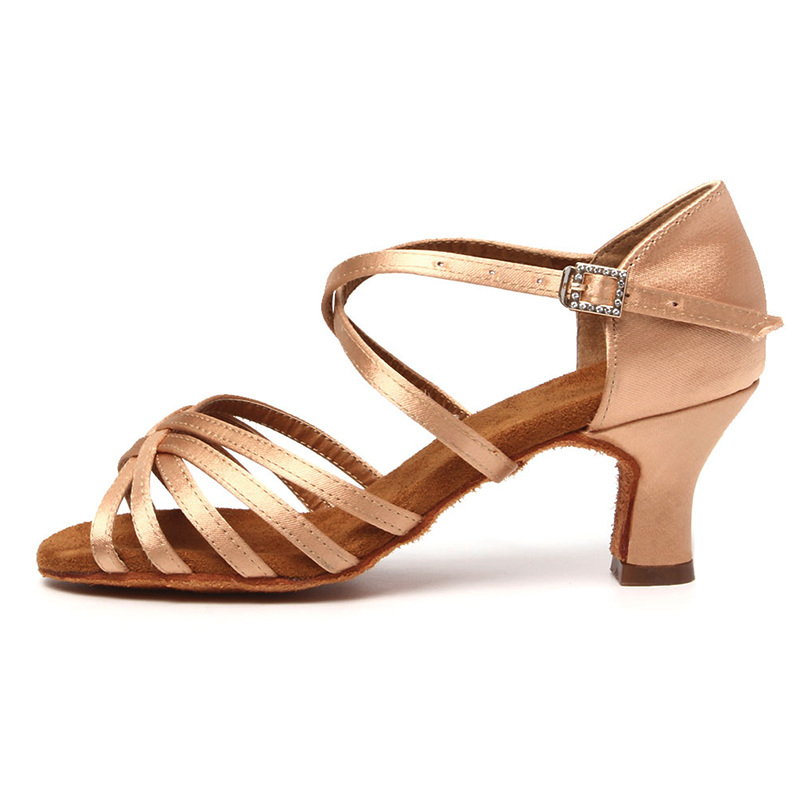 Women Dance Shoes Girls Ballroom Latin Dance Shoes Ladies Samba Dancing Shoes Tango Performance Shoes Salsa Sandals Red Shoes