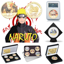 Coin-Collectibles Naruto Japanese Anime Coins Original Challenge Gold-Plated WR 5PCS