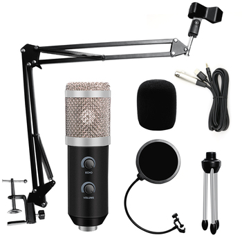 NEW bm 800 USB Microphone karaoke studio bm800 Condenser Microphone for PC Computer Gaming Streams Recording mic with Stand cardioid directional condenser microphone for youtube broadcast gaming usb microphone for computer recording mic with stand