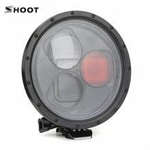 SHOOT impermeable Dome Port funda carcasa de buceo con filtro rojo de lupa 10x para GoPro Hero 7/6/5 accesorios de cámara