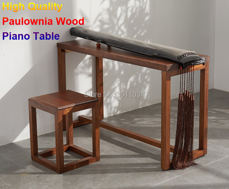 Wood Piano Table Stool Set Rectangle