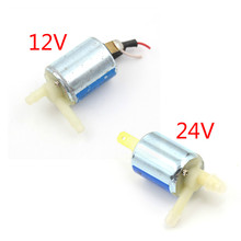 Solenoid-Valve Water-Gas-Valve Electric Micro Mini DC24V 3V 12V 1PCS Normally Discouraged