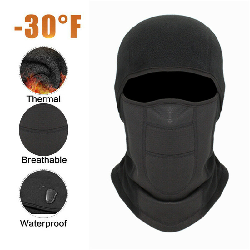 Winter Warm Hat Balaclava Face Mask Motorcycle Cycling Waterproof Windproof Hat Neck Helmet Ski Full Face Mask Cover Hat