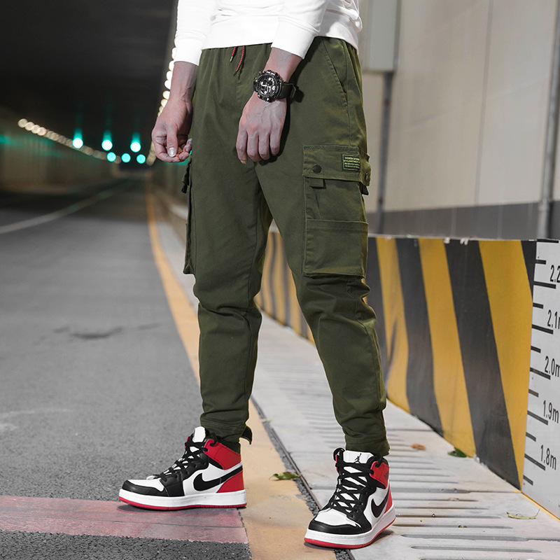 2019 Spring New Style Bib Overall Men's Casual Pants American-Style Popular Brand INS Loose Harem Pants MEN'S Long Trousers