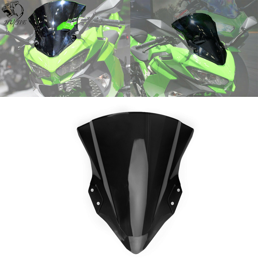 For Kawasaki <font><b>Ninja</b></font> <font><b>400</b></font> 2018-2019 Motorcycle High Quality PC Plastic <font><b>Windscreen</b></font> Windshield Baffle Wind Deflectors image