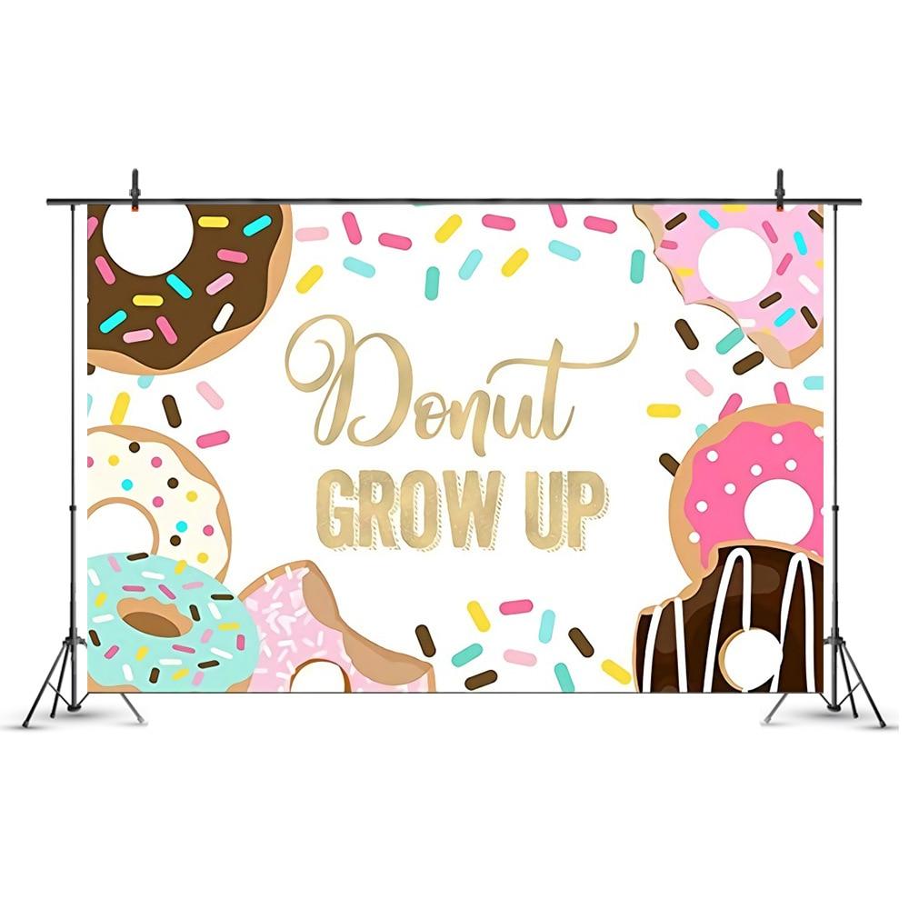 Пончик для выращивания, бумажный стаканчик, салфетки, тарелки на день рождения, годовщину, Baby Shower, конфеты, бара, декор для вечеринки, Пончик ...