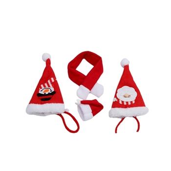 Nowy rok czapka świąteczna czapki św Mikołaja czerwona i biała bluzka świąteczna czapka na kostium świętego mikołaja tanie i dobre opinie CN (pochodzenie) Włókniny tkaniny