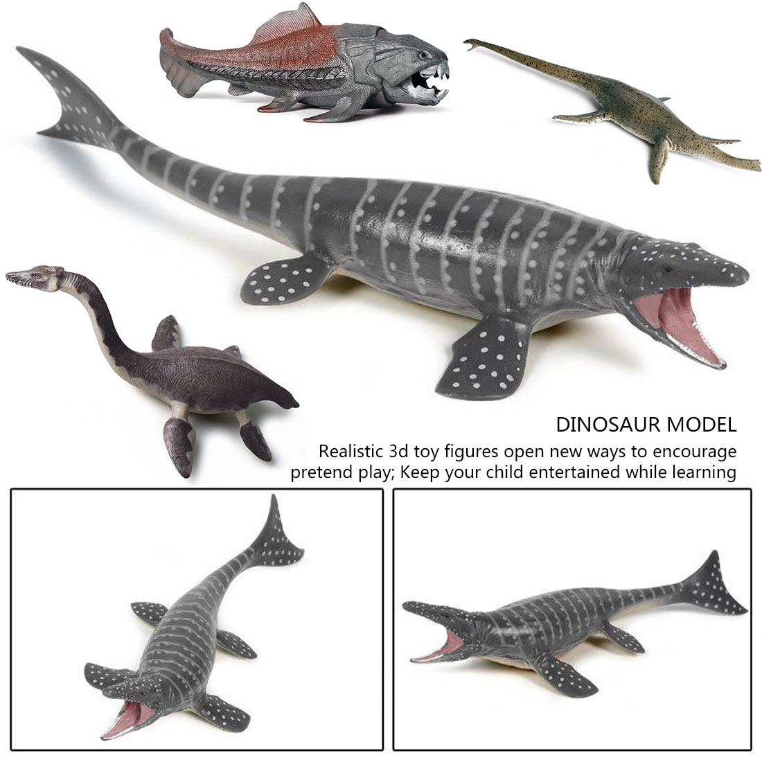 Simulation Ancient Beast Prehistoric Animal Sea <font><b>Dinosaur</b></font> Model Kids Educational <font><b>Toy</b></font> For Children Gift image
