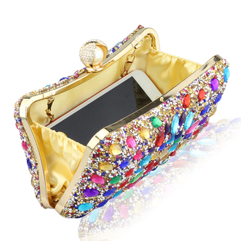 Diamond Crystal Candy Colored Clutch  4