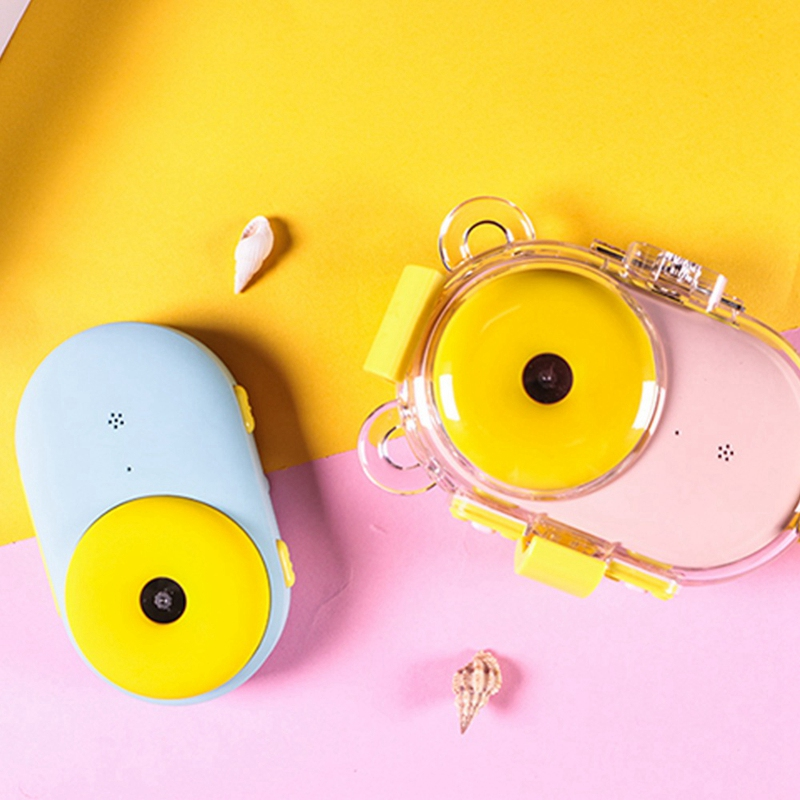 2,0 дюймов мини 8.0Mp дети Hd Wifi цифровая камера ЖК-дисплей сдвоенный объектив пончик камера водонепроницаемый милый розовый