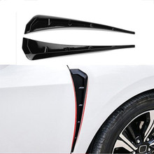цена на Car-styling ABS Front Fender Side Air Vent Cover Trim StickerFor BM X Series X5 F15 X5M F85 Shark Gills Side Vent Accessories