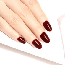 С фабрики сплошной цвет ногтей кончик поддельные ногти кончик готового продукта Блеск Полный не выцветает обычный цвет маникюр отделка