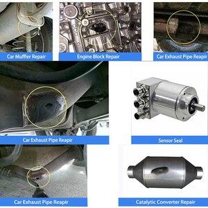 Image 5 - Mastic adhésif pour réparation de tuyau déchappement de voiture, 2 pièces, colle de remplissage, haute température, moto, outil de réparation automobile, pâte de colle 75g
