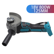 18V 800W 100mm/125mm Brushless Cordless Impact Angle Grinder DIY Power Tool Cutting Machine