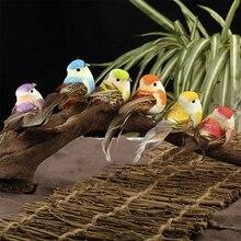 """6 шт./компл. искусственный перо птица Животные елка """"сделай сам"""" садовый декор гостевой дом лесной Декор птиц украшение Декоративные Лидер продаж"""