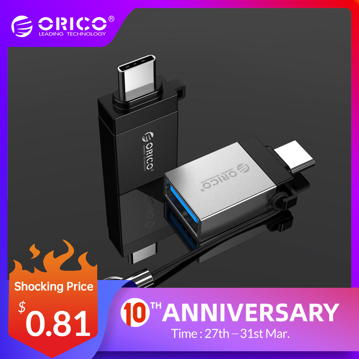 ORICO OTG USB Type C Adapter Micro USB To Type C OTG Connector For Phone Macbook Laptop Charger Data Sync Type USB 3.0 Converter