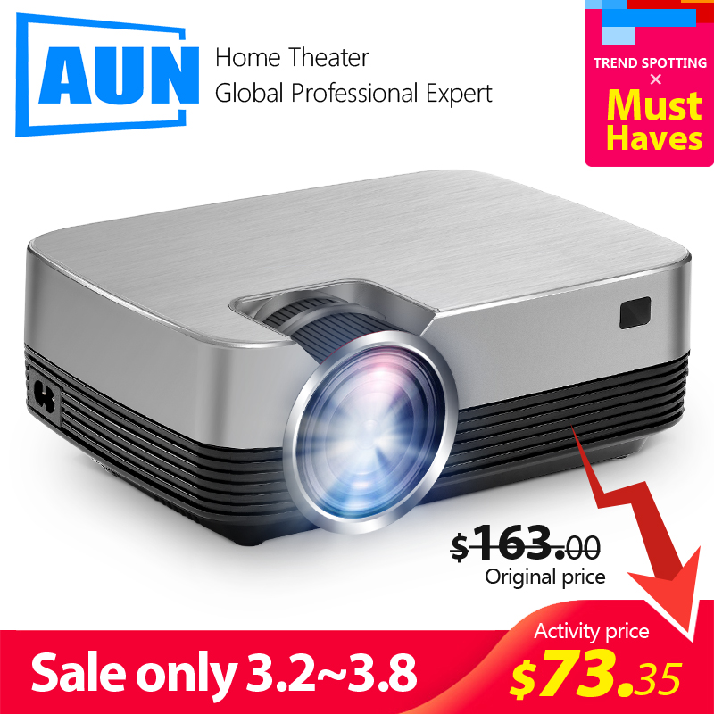 AUN New MINI Projector Q6-AD  1280x720P Android 8 0 WIFI 2600 lumens  LED Proyector for 1080P Home Cinema  3D Video Beamer