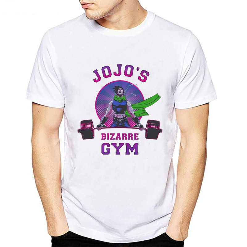 패션 T 셔츠 남성 만화 T 셔츠 멋진 참신 재미 스타일 남자 조조 기묘한 모험 인쇄 hipster 탑스 하라주쿠 티