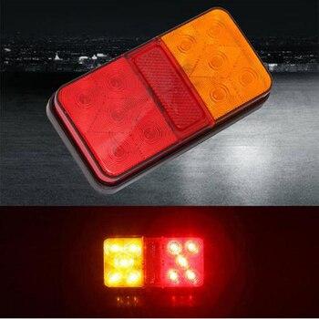 2pc 12V-80V 10 LED Truck Car Trailer Rear Tail Light Stop Waterproof Durable Indicator Lamp Taillight Turn Signal Lamp E4 E-mark цена 2017
