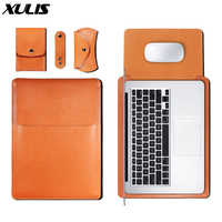 For Macbook Air Pro 11 12 13 15-inch PU leather four-piece computer case for Macbook air 13.3-inch cover four-piece cover 2019