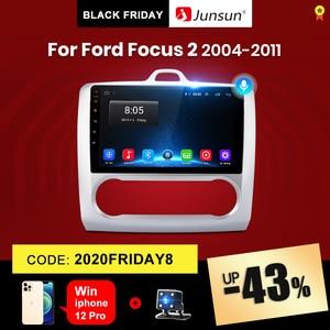 Junsun V1 2G+32G Android 10.0 DSP For ford focus 2 Mk2 2004-2011 Car Radio Multimedia Video Player Navigation GPS RDS 2 din dvd
