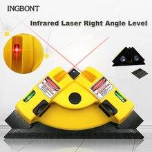 Ingbont 90 graus de linha infravermelha laser ângulo direito nível laser vertical horizontal quadrado projeção medição parede tiling ferramenta