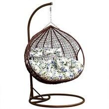 Творческий PE ротанга переплетения двойной человек сиденье качели висячие стул с поручнем дома балкон гостиная отдыха ленивый стул для отдыха