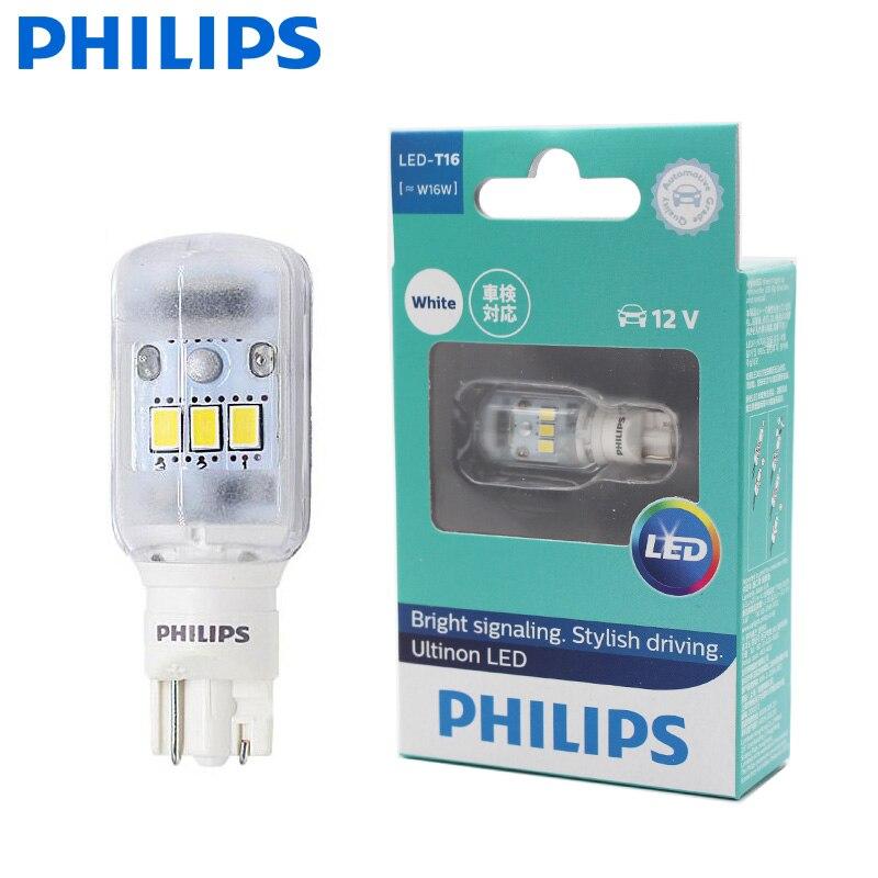 Philips светодиодный 921 T16 T15 W16W 11067ULW Ultinon светодиодный 6000K холодный синий белый clignotant feux задние индикаторы Лампа стоп, 1X