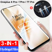 2-3Pcs pelicula,hydrogel film for oneplus 7 t 8pro Protector oneplus-7t 8 pro Soft Lens Glass one plus 7 pro oneplus 8 100D Film