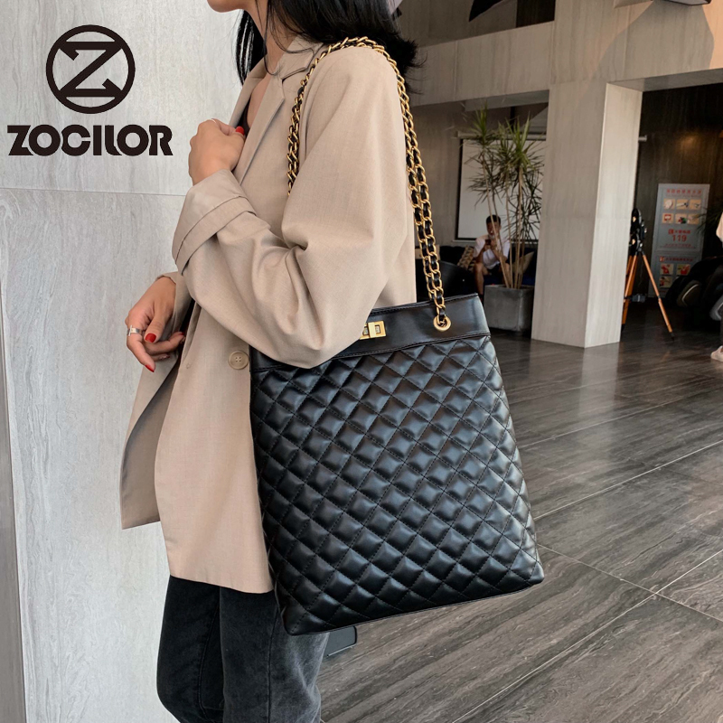 Fashion Lattice  Women Handbag Soft Pu Leather Women Shoulder Bags Famous Brand Designer Women Bags Ladies Casual Sac A Main