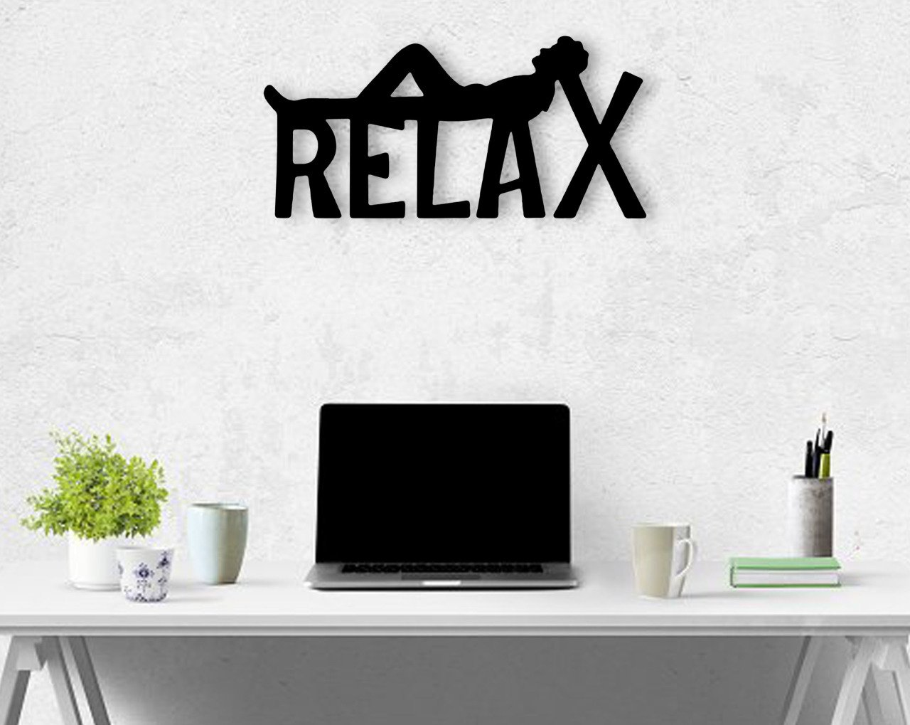 BK Home Relax Wood Wall Decoration Modern Convenient Reliable Decoration Gift Quality Design Simple Cool Black Color