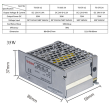 цена на 12V 24V DC Switching Power Supply 35W Output 1.5/Input DC 12/24V To 1.6A/115VAC 0.8A/230VAC Switch Power Supply Transformer