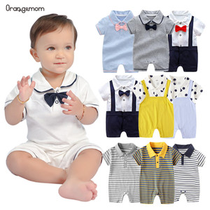 Orangemom official store New born baby girl jumpsuit infant birthday party wedding dresses gentleman Short romper Boy Clothes(China)