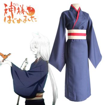 Anime Kamisama Hajimemashita Kamisama Kiss Tomoe Uniform Cosplay Costumes Kamisama Love Full Set Kimono ( Robe + Belt ) tanie i dobre opinie TOLINA Kombinezony i pajacyki Unisex Dla dorosłych Zestawy 19039 Poliester Kostiumy Fancy Dress