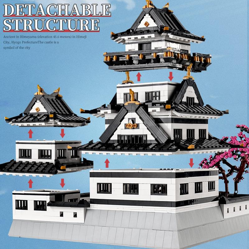 MOULD KING 22006 The MOC Himeji Castle Model