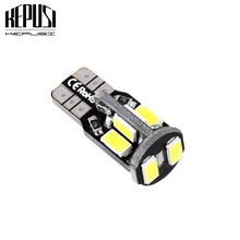 цена на T10 W5W 10 SMD Car Side Wedge Light Dome Map Bulb 194 168 5630 12V Lamps Instrument Panel Reading Lamp White Warm white