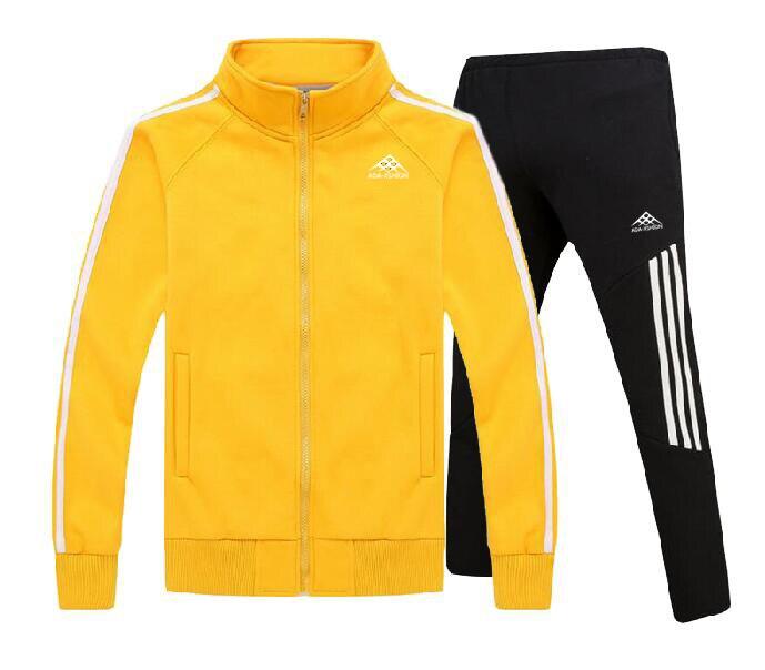 Men's Gym Run Walk TrackSuit Sport Jacket Suit Set Trousers Jogging Bottom Top Sweatsuits Blazer Train Track Suit 2PC
