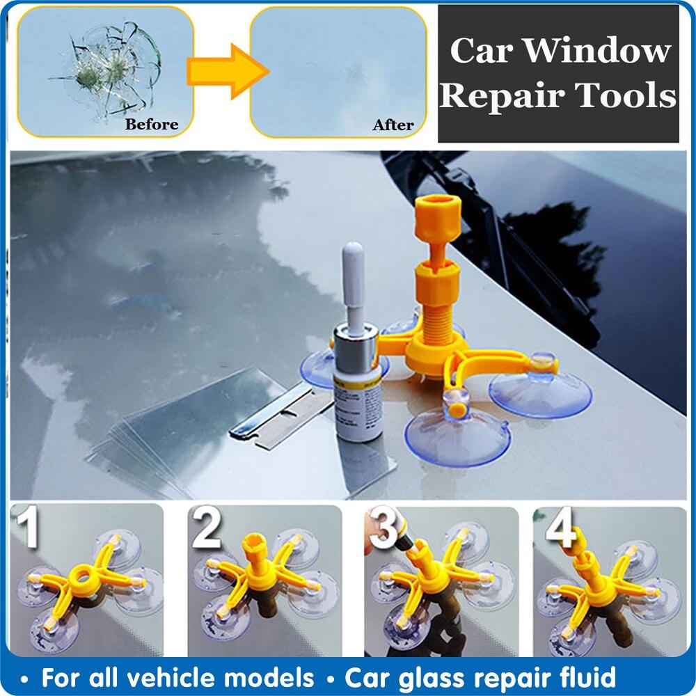 Car Styling Windshield Repair Kit Car Window Glass Scratch Crack Restore Repair Tool Auto Window Screen Polishing Accessories