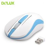 Delux M137GX Mouse Wireless Mini Office USB ottico 1000DPI gioco ergonomico per Desktop portatile