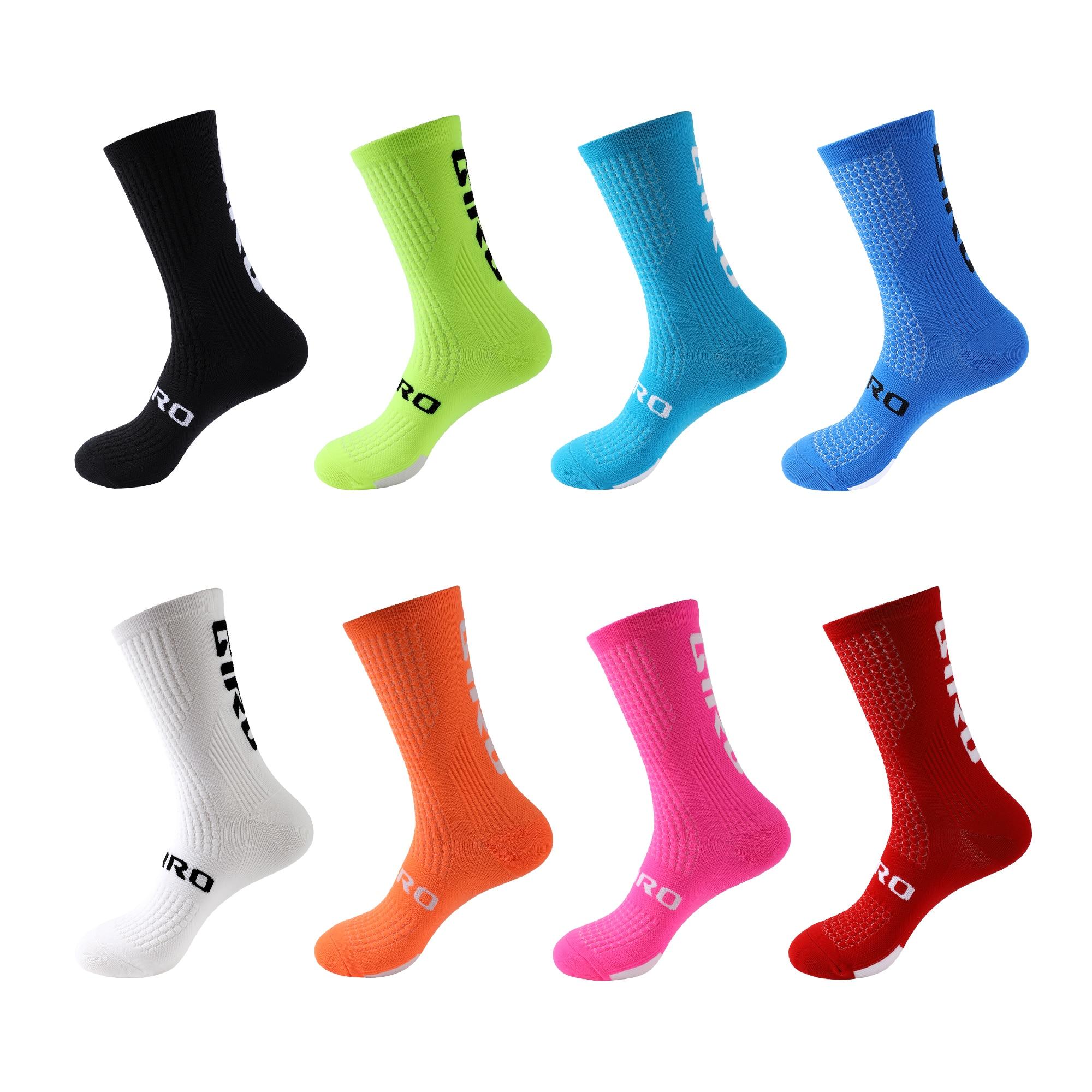 Велосипедные носки для мужчин и женщин, высокие носки, носки, футбольные носки, носки для бега, Спортивные командные походные хлопковые носк...