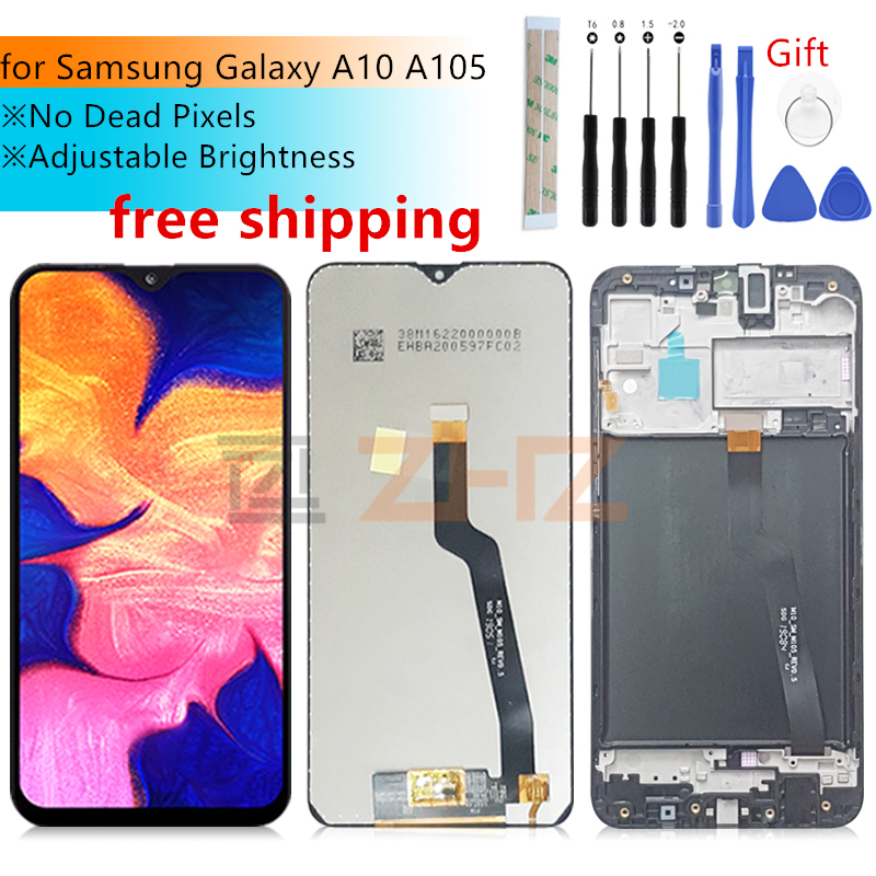 For Samsung Galaxy A10 LCD Display Touch Screen Digitizer Assembly 2019 A105 A105F SM-A105F With Frame Replacement Repair Parts
