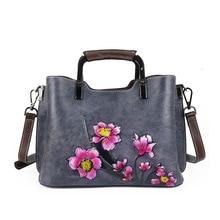 bags for Women 2020 Handbags Genuine Leather luxury Handmade Embossing Floral Cow Shoulder crossbody Bags