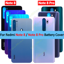 Funda trasera para Xiaomi Redmi note 8, carcasa de cristal para puerta trasera, sin lente de cámara, carcasa trasera para Redmi note 8 pro